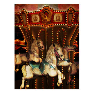 Karussell-Pferde Postkarte