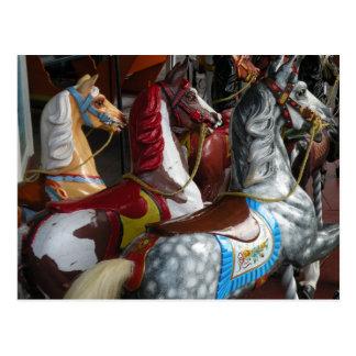 Karussell-Pferdepostkarte Postkarte