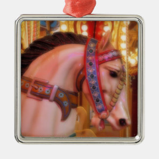 Karussell-Pferdeverzierung Silbernes Ornament
