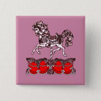 Karussell Quadratischer Button 5,1 Cm
