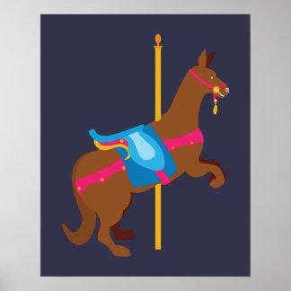 Karussell-Tier-Känguru Poster
