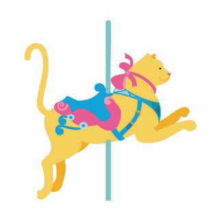 Karussell-Tier-Katze Freistehende Fotoskulptur