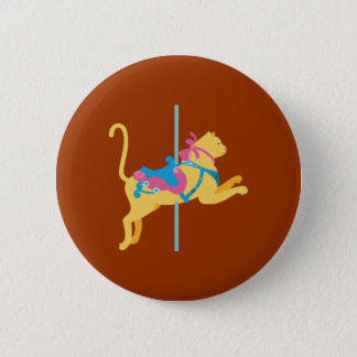 Karussell-Tier-Katze Runder Button 5,7 Cm