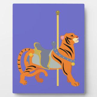 Karussell-Tier-Tiger Fotoplatte