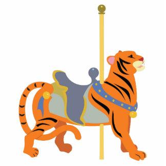 Karussell-Tier-Tiger Freistehende Fotoskulptur