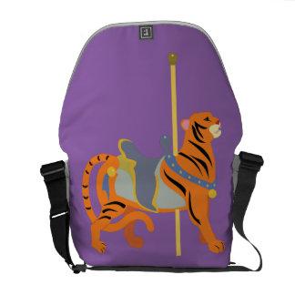 Karussell-Tier-Tiger Kuriertasche