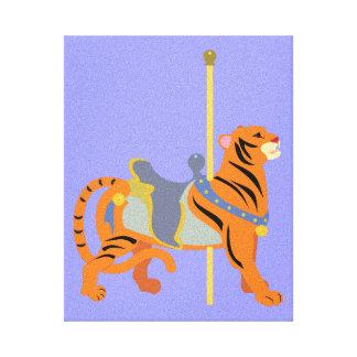 Karussell-Tier-Tiger Leinwanddruck