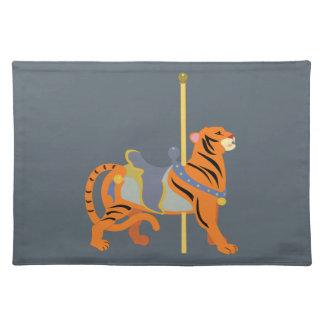 Karussell-Tier-Tiger Stofftischset