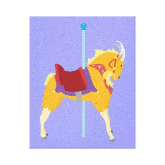 Karussell-Tier-Ziege Leinwanddruck