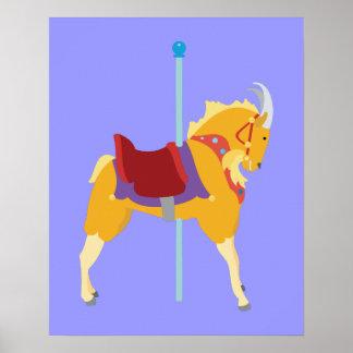Karussell-Tier-Ziege Poster