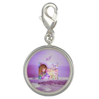 Karussell träumt lila Ozean-Silber-Charme Charm