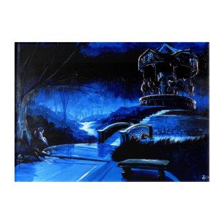 Karussell - Trost-Park Acryl Wandkunst