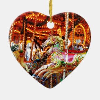Karusselschlauchentwurf Keramik Herz-Ornament