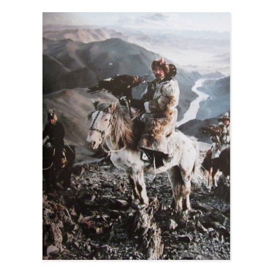 Kasachen von der Mongolei- Postkarte