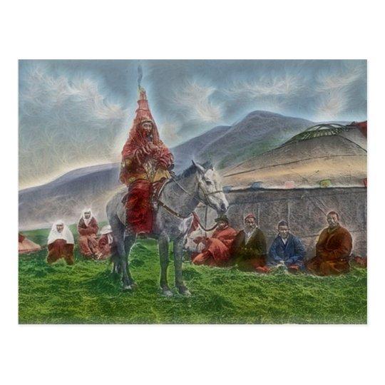 Kasachische Frau Postkarte