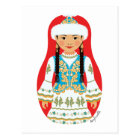 Kasachische Matryoshka Postkarte