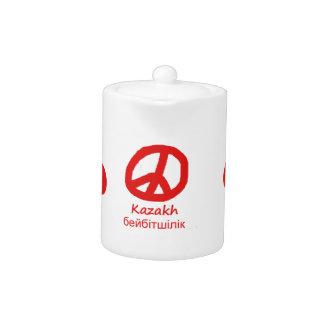 Kasachische Sprache und Friedenssymbol-Entwurf