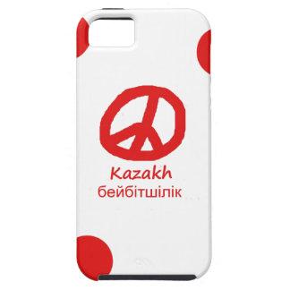 Kasachische Sprache und Friedenssymbol-Entwurf iPhone 5 Hülle