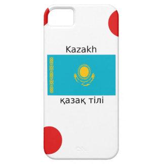 Kasachische Sprache und Kasachstan-Flaggen-Entwurf Hülle Fürs iPhone 5