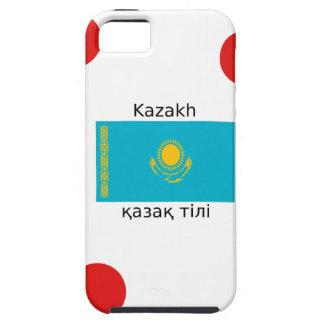 Kasachische Sprache und Kasachstan-Flaggen-Entwurf iPhone 5 Etui