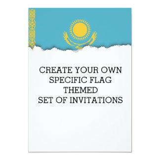 Kasachstan-Flagge Karte