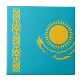 Kasachstan-Flagge Keramikfliese