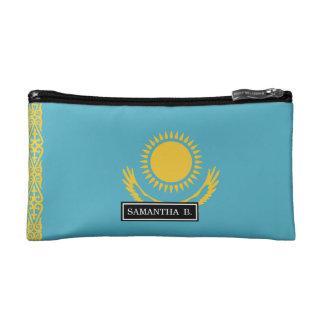 Kasachstan-Flagge Kosmetiktasche