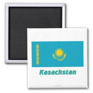 Kasachstan Flagge MIT Namen