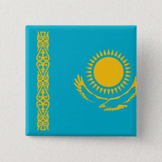 Kasachstan-Flagge Quadratischer Button 5,1 Cm