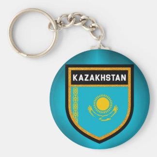 Kasachstan-Flagge Schlüsselanhänger
