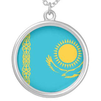 Kasachstan-Flagge Versilberte Kette