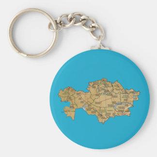Kasachstan-Karte Keychain Schlüsselanhänger