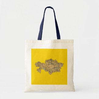 Kasachstan-Karten-Tasche Tragetasche