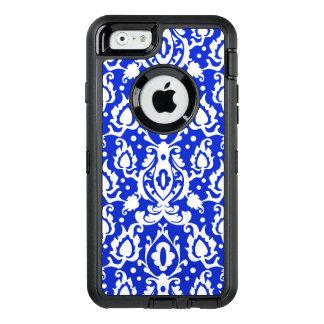 Kasbah marokkanisches Damast-Blau und Weiß OtterBox iPhone 6/6s Hülle