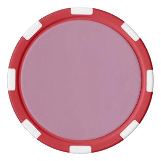 Kaschmir-Rosen-Fall Pantone Farbe 2015 Poker Chips Set