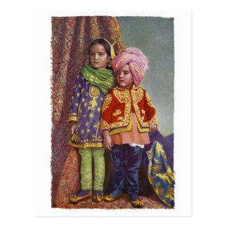 Kaschmir scherzt Postkarte