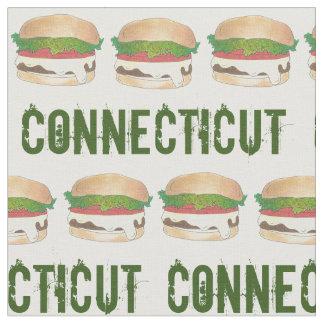 Käse-Burger-Cheeseburger CT Connecticut gedämpfter Stoff