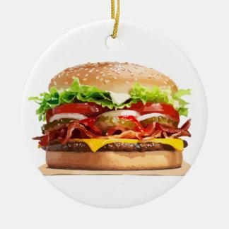 Käse-Burger-Hamburger Keramik Ornament