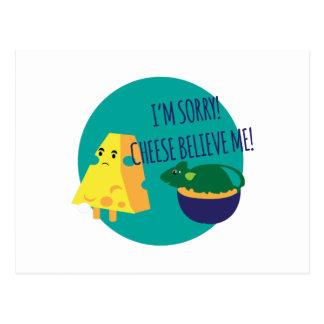 Käse glauben mir postkarte