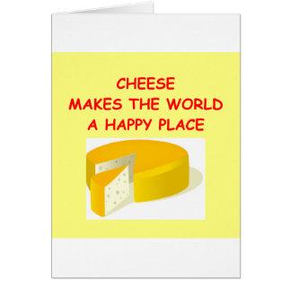 Käse Grußkarte