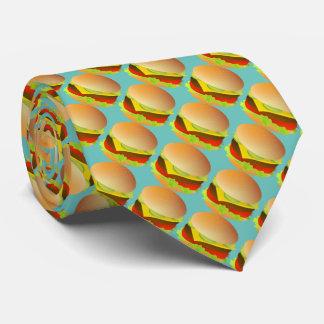 Käse-Hamburger Bedruckte Krawatten