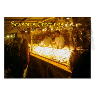 Käse-Stall, deutscher Weihnachtsmarkt, Manchester Grußkarte