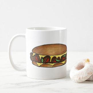 Käse-Steak-Sandwich-Nahrung Philadelphia PAs Kaffeetasse