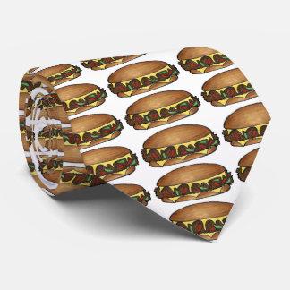 Käse-Steak-Sandwich-NahrungsmittelKrawatte Krawatte