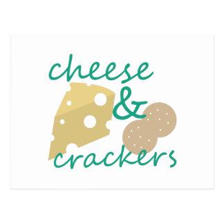 Käse u. Cracker Postkarte