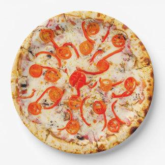 Käse-und Pfeffer-Pizza-Party-Papier-Teller Pappteller