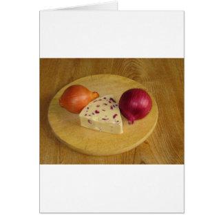 Käse und Zwiebel Karte