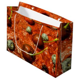 Käsekuchen-Detail-Foto Große Geschenktüte