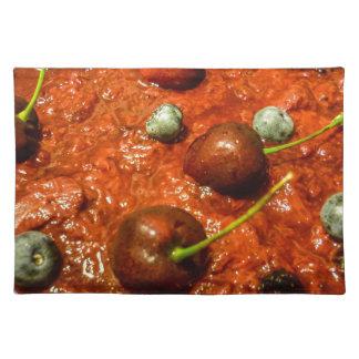 Käsekuchen-Detail-Foto Stofftischset