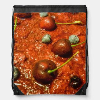 Käsekuchen-Detail-Foto Turnbeutel